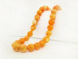 """Оранжевые чётки """"Янтарь""""_0"""
