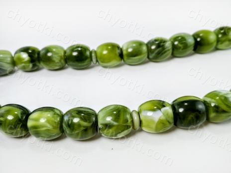 Зелёные чётки с нефритом