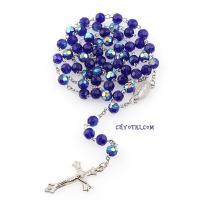 Розарий католический синий_3