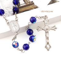 Католические четки синие