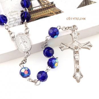 Розарий католический синий