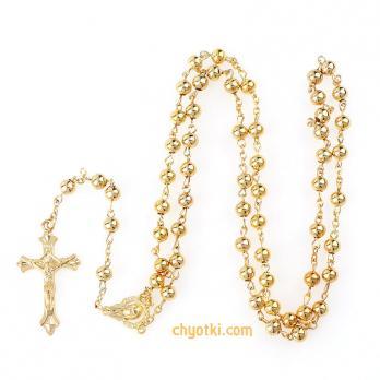 Католические четки золотые