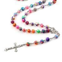 Разноцветные католические чётки_4
