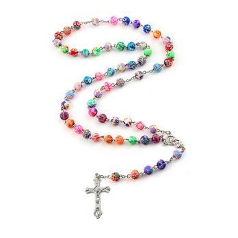 Разноцветные католические чётки